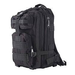 Тактический штурмовой военный рюкзак 30л портфель черный