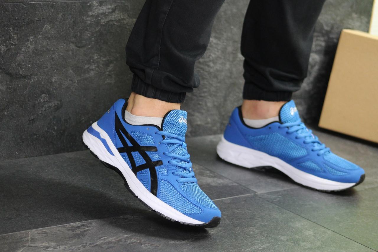 Мужские кроссовки Asics (сине-белые)