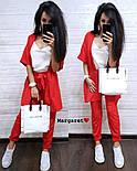 Женский легкий костюм-тройка: кардиган, брюки и майка (в расцветках), фото 4