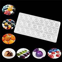 """Формы для шоколада из поликарбоната """"Полусферы"""", форма 3D для конфет"""