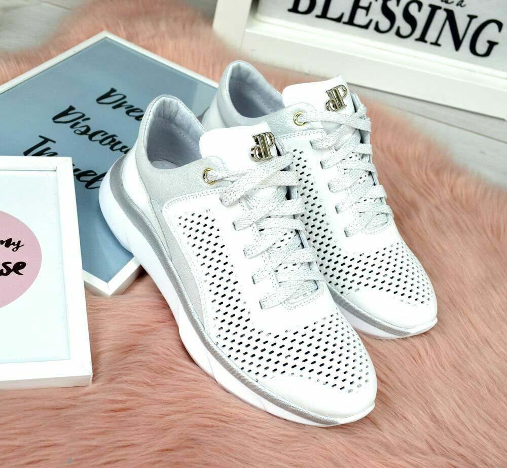 116ec68f9 Женские белые кожаные кроссовки от интернет-магазина «Allegret»