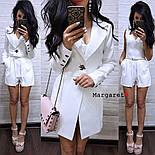 Женский стильный костюм: пиджак-трансформер и комбинезон (в расцветках), фото 2