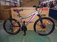 """Велосипед горный алюминиевый Crosser Sweet 26дюймов рама 16"""", Серо-малиновый., фото 1"""