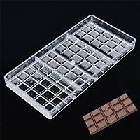 """Формы для шоколада из поликарбоната """"Плитка шоколада большая"""", форма 3D для конфет"""