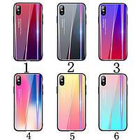 Чехол TPU+Glass Gradient Aurora для Samsung A50 Galaxy A505 , фото 2