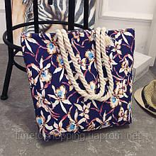 Женская сумка с цветами. Пляжная сумка. Жіноча сумка на пляж