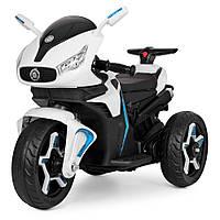 Мотоцикл M 3965L-1 (1шт) 2мотора25W, 2аккум6V4.5AH, кож.сид.,  MP3, USB, свет.кол., бел.
