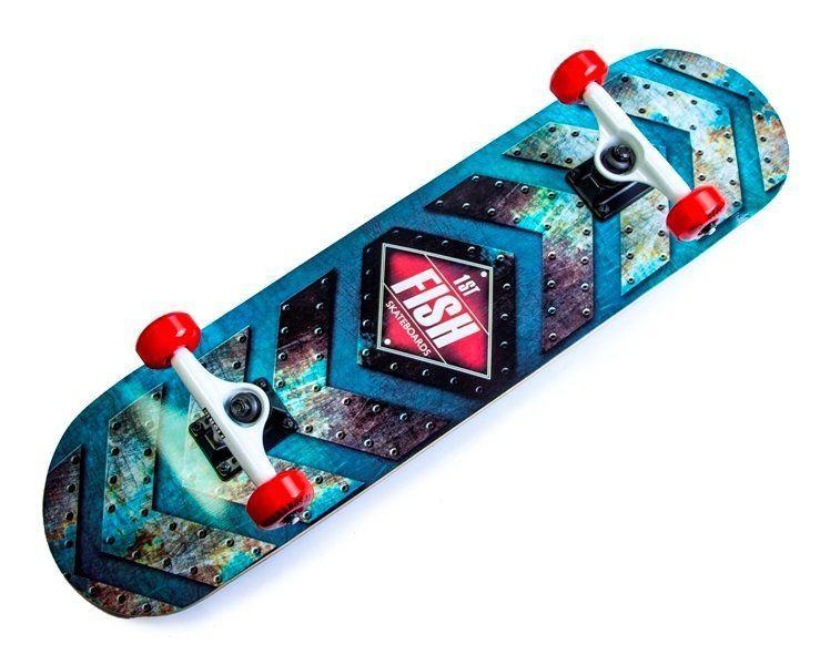 Скейтборд деревянный канадский клен для трюков Fish Skateboards - 1st 79см