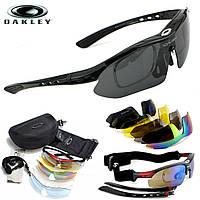 Тактические очки «Oakley Sports» Black / со сменными линзами / горнолыжная маска