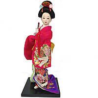 """Японская кукла нинге """"Японка в кимоно с флейтой"""" 30 см. разноцветная (C0347)"""