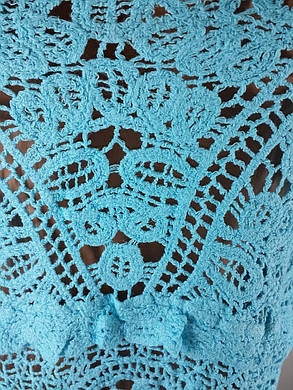 Голубой пляжный сарафан 807 на наши 46-48 размеры., фото 2