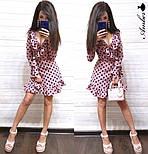 Женское платье в горошек с рюшами (в расцветках), фото 3