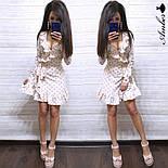 Женское платье в горошек с рюшами (в расцветках), фото 2