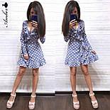 Женское платье в горошек с рюшами (в расцветках), фото 5