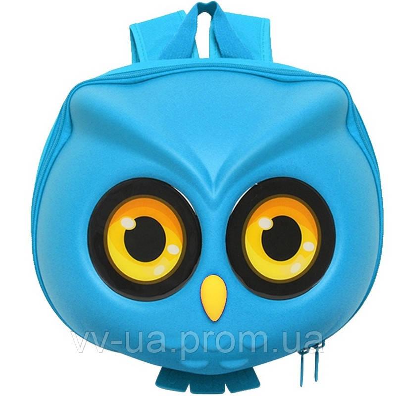 Рюкзак детский Supercute Сова, голубой (SF040-c)