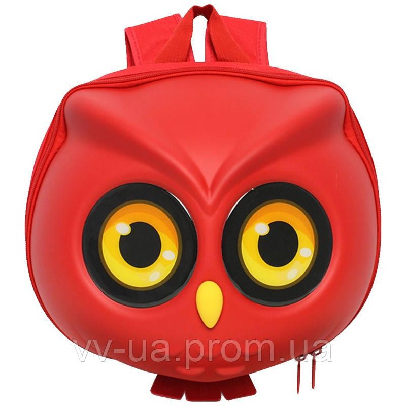 Рюкзак детский Supercute Сова, для девочек, красный (SF040-a)