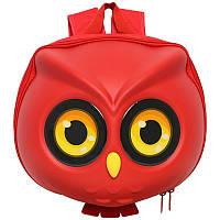 Рюкзак детский Supercute Сова, для девочек, красный (SF040-a), фото 1