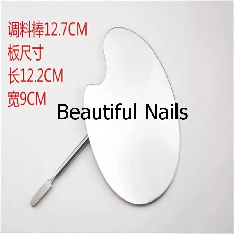 Набор маникюрный , металлический шпатель и палитра для смешивания красок