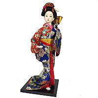"""Китайская кукла нинге """"Китаянка в кимоно с веером"""" 30 см. разноцветная (C0356)"""