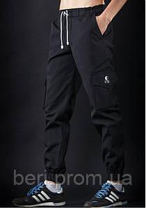 Мужские брюки карго Ястребь   Спортивные Штаны    Чоловічі штани джоггери Ястребь (Черный)