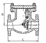 Клапан обратный 19с53нж Ру40 Ду200, фото 2