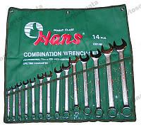 Набор ключей рожково-накидных 14 шт 10-32 мм лента HANS (16614M)
