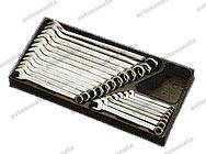Набор ключей рожково-накидных 19 шт 6-24 мм в ложем. HANS (TT-29)