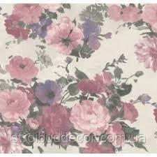 """Обои горячего тиснения на флизелиновой основе 1,06*1,05 метровые В цветочек, Прованс"""" в спальню, розовые"""