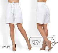 Льняные женские шорты (3 цвета) - Белый ФК/-02, фото 1