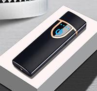 Запальничка SUNROZ DK-717 портативна електронна акумуляторна USB запальничка Матовий Чорний (SUN4001)