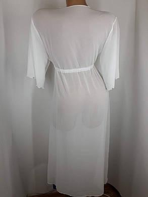 Пляжный халат белый Бусины 1730 на наши 48-50 размеры., фото 2