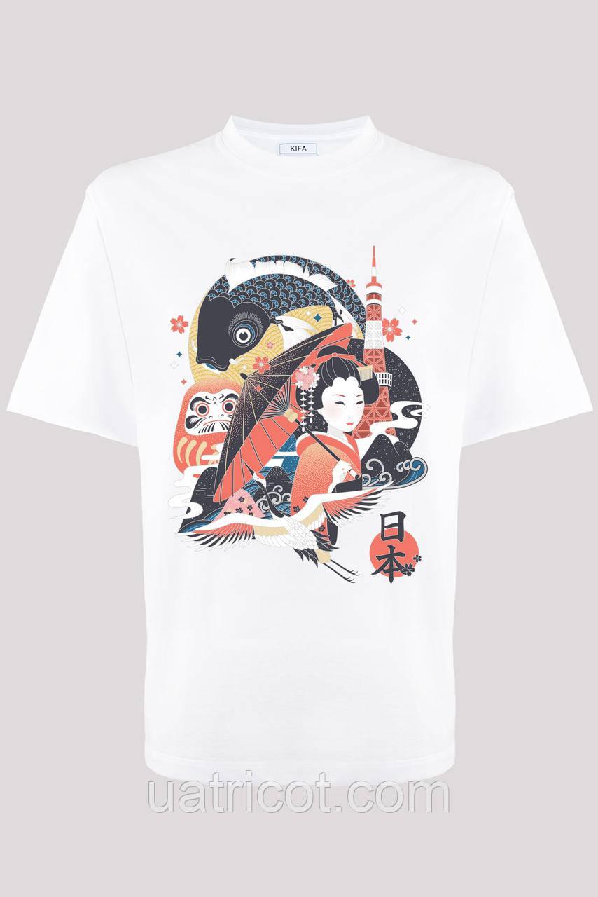 Футболка мужская KIFA ФМХ-019/15 Nihon Japan белая