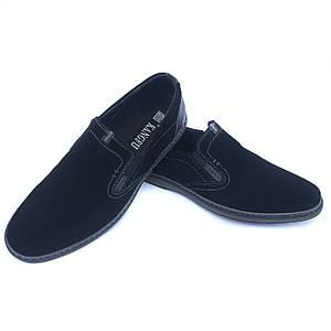 Замшевые туфли Kangfu без шнурков