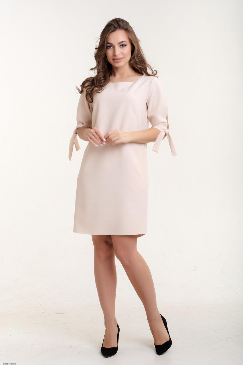 Платье K&ML 488 бежевый 46