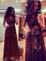 Платье в пол шифон лео РК230