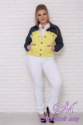 Женская короткая куртка большого размера (р. 42-90) арт. Ретро, фото 2