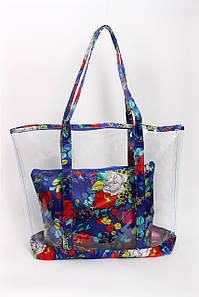 Шоппинг сумка Заира синяя