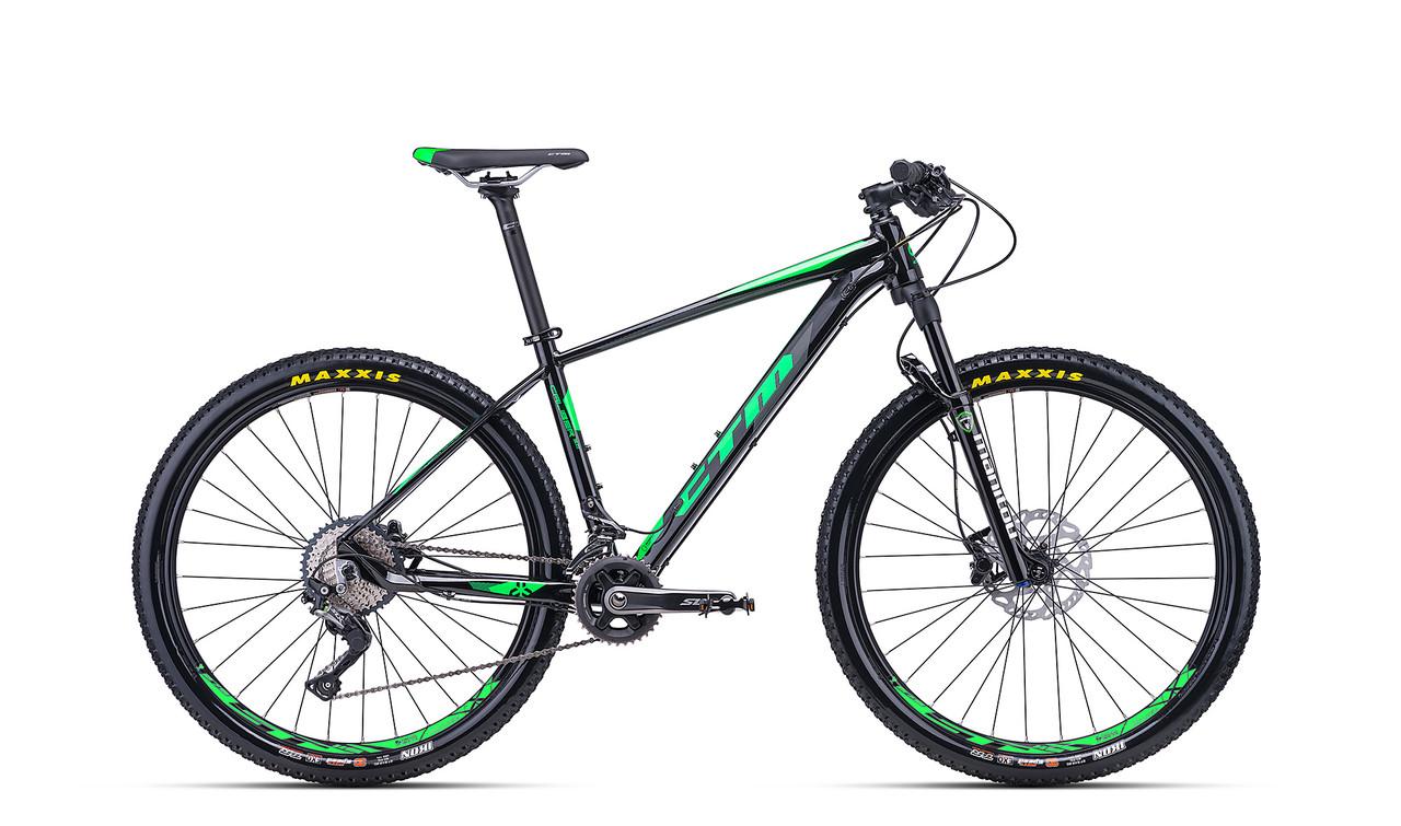 """Велосипед горный CTM Caliber 3.0 (black/green) 2018 года(27.5"""") 17"""""""