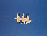 Зайці з морквою (Зайчик. Заєць) заготівля для декупажу та декору, фото 2