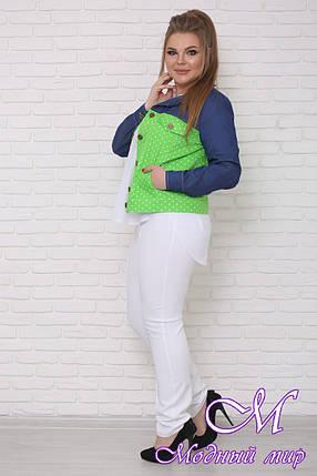Летняя женская куртка большого размера (р. 42-90) арт. Ретро, фото 2