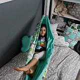 Детский гамак тканевый, размер 90*140см на 3-6 лет, качель подвесная детская тканевая, фото 4
