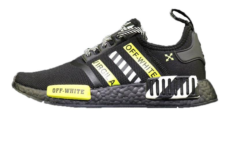 huge discount 08a92 c22b8 Мужские кроссовки Off-White X Adidas NMD R1 Black/White/Green - Bigl.ua