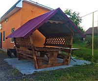 Деревянная беседка «Стандарт 2+» 300х200 от производителя для сада и дома