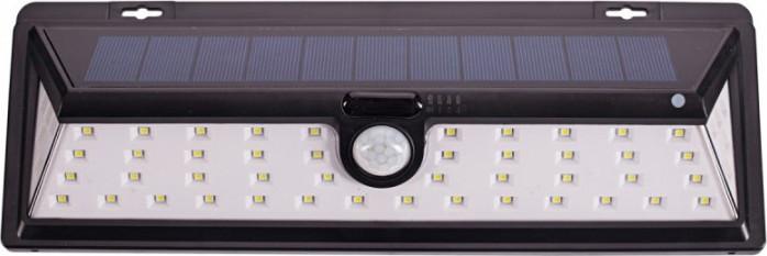 Фасадный садово-парковый светильник на солнечных батареях с датчиком движения 27W Luxel SSWL-02C