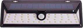 Фасадный садово-парковый светильник на солнечных батареях с датчиком движения 27W Luxel SSWL-02C, фото 2