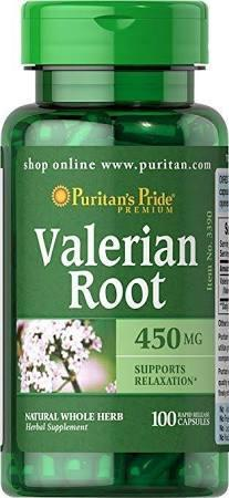 Корень валерианы Puritan's Pride - Valerian Root 450 мг (100 капсул)