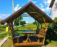 Деревянная беседка «Дикарь-2» 250х200 от производителя для сада и дома