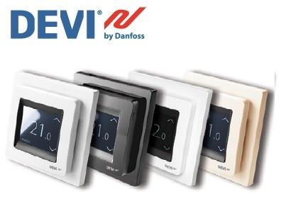 Терморегулятор DEVIreg Touch с сенсорным дисплеем и интеллектуальным таймером
