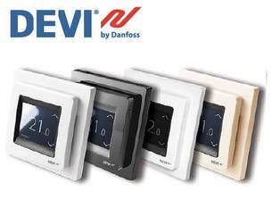 Терморегулятор DEVIreg Touch з сенсорним дисплеєм і інтелектуальним таймером