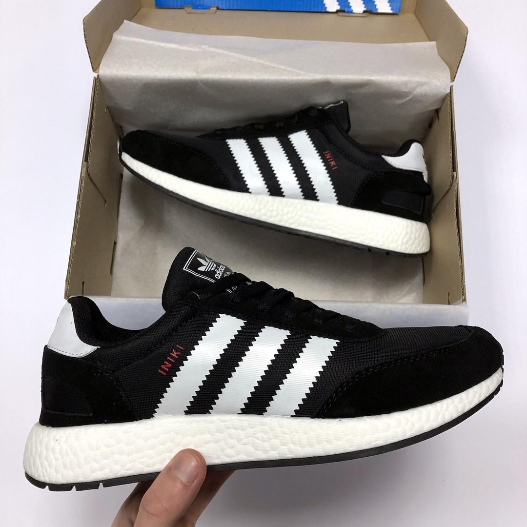 b21511b5 Мужские кроссовки Adidas Iniki черные реплика - купить не дорого в ...